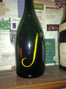 Bottle of J Champagne