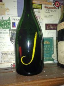 Bottle of J Champagne