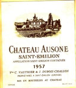 Ch Ausone 1957