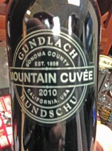 Gundlach Bundschu Mountain Cuvee 2010