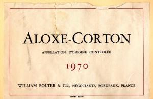 Aloxe-Corton (Bolter) 1970