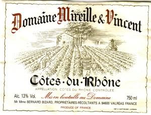 Domaine Mireille & Vincent Cotes du Rhone