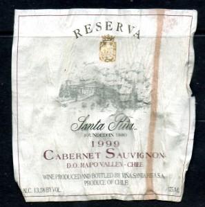 Santa Rita Reserva Cabernet Sauvignon 1999