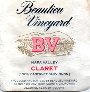 Beaulieu Vineyard Claret NV