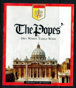 The Popes' Dry White Table Wine