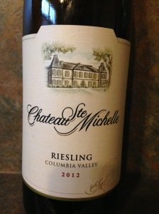 Chateau Ste Michelle Riesling 2012