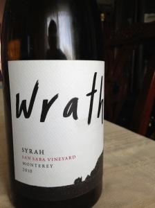 Wrath San Saba Vineyard Syrah 2010