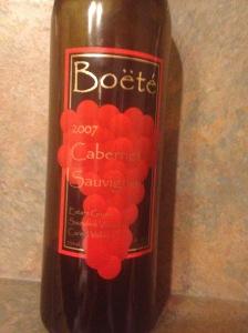 Boete Cabernet Sauvignon 2007