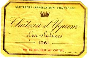 Ch d'Yquem 1961 Sauternes