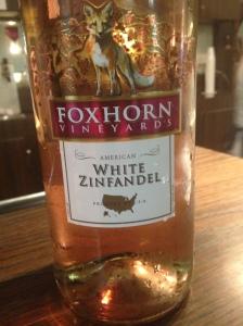 Foxhorn White Zinfandel NV