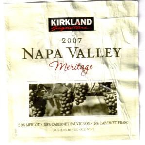 Kirkland Napa Valley Meritage 2007