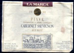 La Marca Piave Cabernet Sauvignon 1990