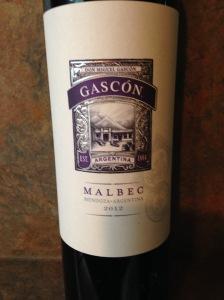 Gascon Malbec 2012