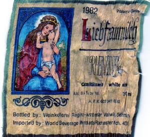 Liebfraumilch Rheinhessen 1982