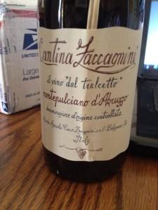 Cantina Zaccagnini dal tralcetto 2011