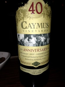 Caymus Cabernet Sauvignon 2012