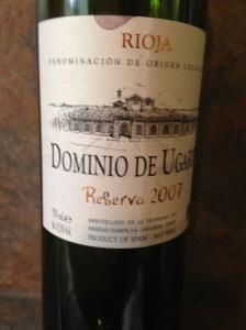 Dominio de Ugarte Rioja Reserva 2007