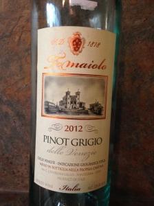Tomaiolo Pinot Grigio 2012