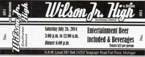 WJHS 4th Reunion Ticket