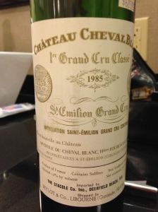 Chateau Cheval Blanc 1985