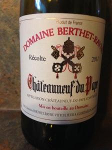 BerthetRayne Chateauneuf du Pape 2011
