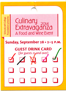 MI 23rd Culinary Extravaganza Drink Card
