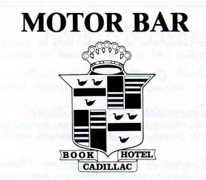 MI Motor Bar Book Cadillac Hotel Logo