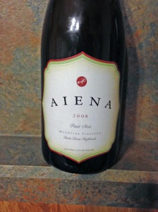 Aiena Pinot Noir McIntyre Vineyard 2008