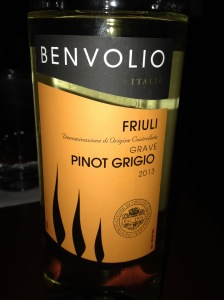 Benvolio Pinot Grigio 2013
