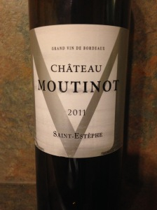 Chateau Moutinot Saint Estephe 2011