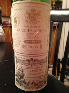 Marquis de Riscal Rioja Reserva 2000