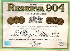 Reserva 904 La Rioja Alta 1959