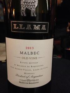 Llama Malbec Old Vine 2013