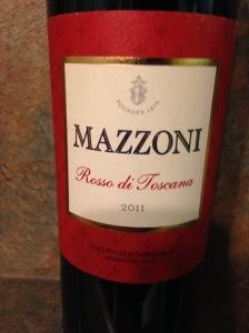 Mazzoni Rosso di Toscana IGT 2011