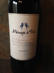 Menage a Trois Merlot 2012