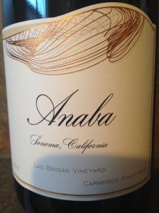 Anaba Las Brisas Vineyards Pinot Noir Carneros 2012