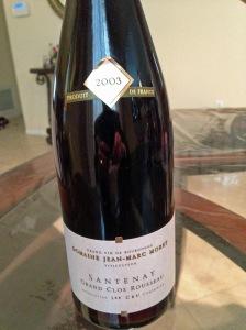 Domaine Jean Marc Morey Grand Clos Rosseau Santenay 2003