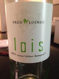 Loimer Lois Gruner Veltliner 2013