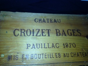Chateau Croizet-Bages 1970 Wine Crate