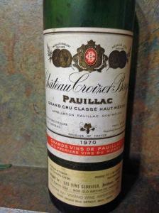 The last bottle of Ch Croizet-Bages Pauillac 1970