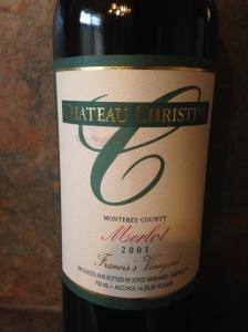Chateau Christini Merlot Francis's Vineyard 2001