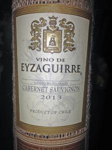Eyzaguirre Cabernet Sauvignon 2013