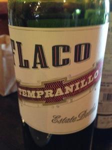 Flaco Tempranillo DO Vinos de Madrid 2013