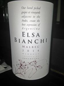 Elsa Bianchi Malbec 2014