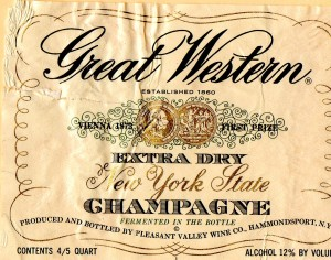 Great Western Extra Dry NYS Champagne NV