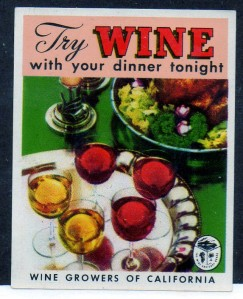 Try Wine with your dinner tonight