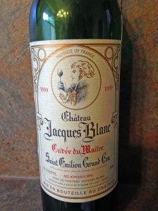 Chateau Jacques Blanc Cuvee du Maitre SEGC 1999