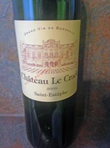 Chateau Le Crock Saint Estephe 2009