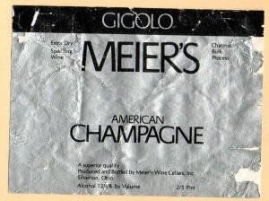 Meiers Gigolo American Champagne OH NV