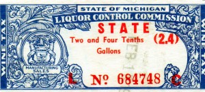 Michigan Liquor Control Commission Stamp